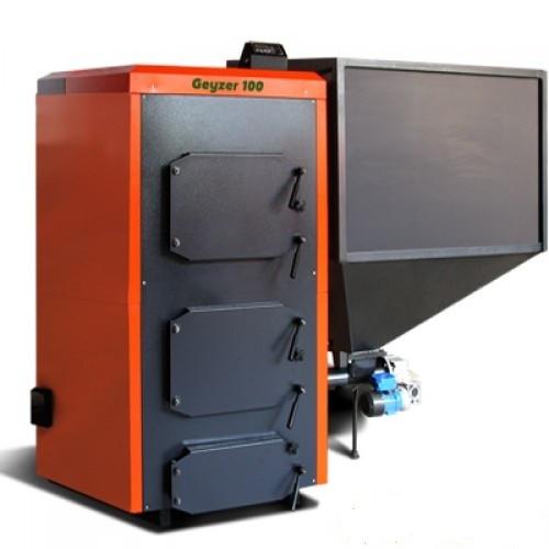 Промышленный универсальный твердотопливный котел на пеллетах с автоматической подачей КОТэко Geyzer 500
