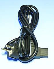 Шнур живлення 220V комп'ютерний 3x0,75мм.кв., угл.-кут., мідь 3.0 м KPO-2772B-3,0
