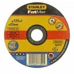 Круг отрезной по металлу Stanley 125x1x22.2мм, тип DPC
