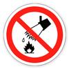 Заборонний знак «Забороняється гасити водою»