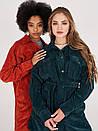 Куртка жіноча оверсайз смарагдова з вельвету SOLH MKSH2720, фото 3