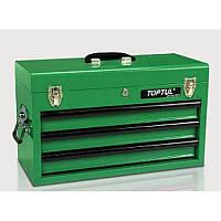 Ящик для инструмента  3 секции  508(L)x232(W)x302(H)mm TOPTUL TBAA0303, фото 1