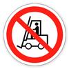 Запрещающий знак «Запрещается движение средств напольного транспорта»