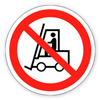 Заборонний знак «Забороняється рух коштів підлогового транспорту»