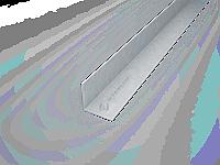 Уголок оцинкованный  (Профиль горизонтальный основной ФПУ 25*25, фасадный профиль)