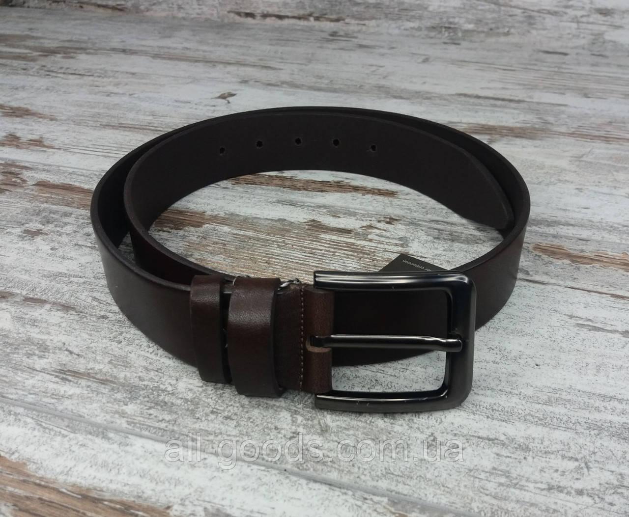 Качественный кожаный мужской джинсовый ремень коричневый 40 мм, прочный оригинальный модный ремень All