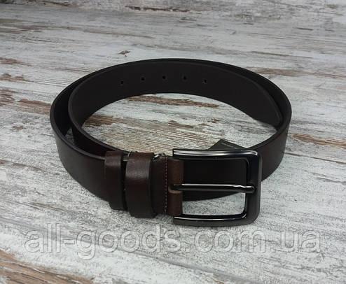 Качественный кожаный мужской джинсовый ремень коричневый 40 мм, прочный оригинальный модный ремень All, фото 2