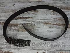 Качественный кожаный мужской джинсовый ремень коричневый 40 мм, прочный оригинальный модный ремень All, фото 3
