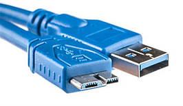 Кабель USB-MicroUSB-B 3.0 PowerPlant 0.5m Blue
