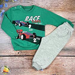 """Костюмчик с флисом """"Race"""" для малыша Размеры: 9,12,18,24 месяца (02421-2)"""