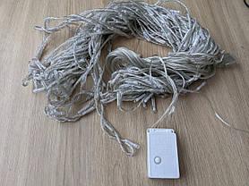 Гірлянда ШТОРА ВОДОСПАД,прозорий шнур,3*1.5 м,240 Led,золото,з перехідником, фото 3