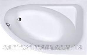 SPRING ванна 160*100см асиметрична, права, з ніжками SN7