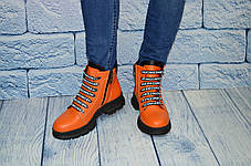 Яркие женские  ботинки оранжевые, размеры 39, фото 3