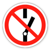 Запрещающий знак «Не включать».