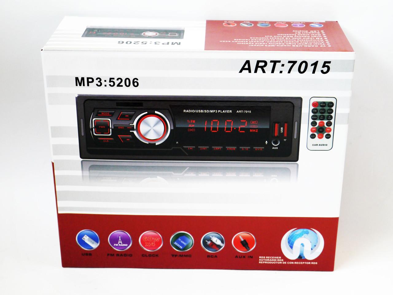 Автомагнитола Pioneer 5206 ISO - MP3 Player, FM, USB, microSD, AUX