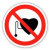 Запрещающие знак «Запрещается работа (присутствие) людей со стимуляторами сердечной деятельности»