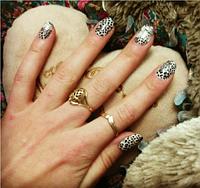 """Наклейка на ногти, наклейка для ногтей, ногтевой дизайн """"леопард"""" 10 шт набор"""
