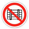 Запрещающий знак «Запрещается загромождать проходы и (или) складировать»
