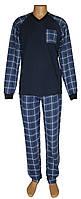 Нова модель в серії теплих байкових чоловічих піжам - серія 21025 Reglan Soft котон Темно-синя ТМ УКРТРИКОТАЖ!