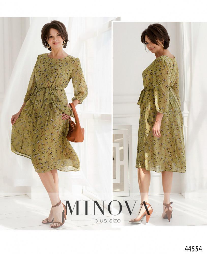 Сукня №20-08-оливковий оливковий/48