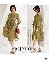 Сукня №20-08-оливковий оливковий/48, фото 1