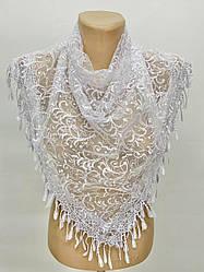 Платок белый свадебный церковный ажурный 232001