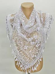 Платок белый свадебный церковный ажурный 232002