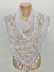 Платок белый свадебный церковный ажурный 232003