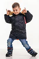 Дитяча зимова парку Olymp — Аляска N-3B KIDS, Black, фото 1