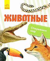 Детская книга Открываем мир Животные рус