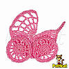 Мини декор Коляска вязаная Розовая 6 см HandMade