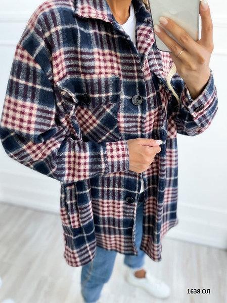 Жіноча сорочка в клітку (розміри: 42-46)