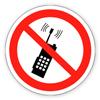 Запрещающий знак «Запрещается пользоваться мобильным (сотовым) телефоном или переносной рацией».