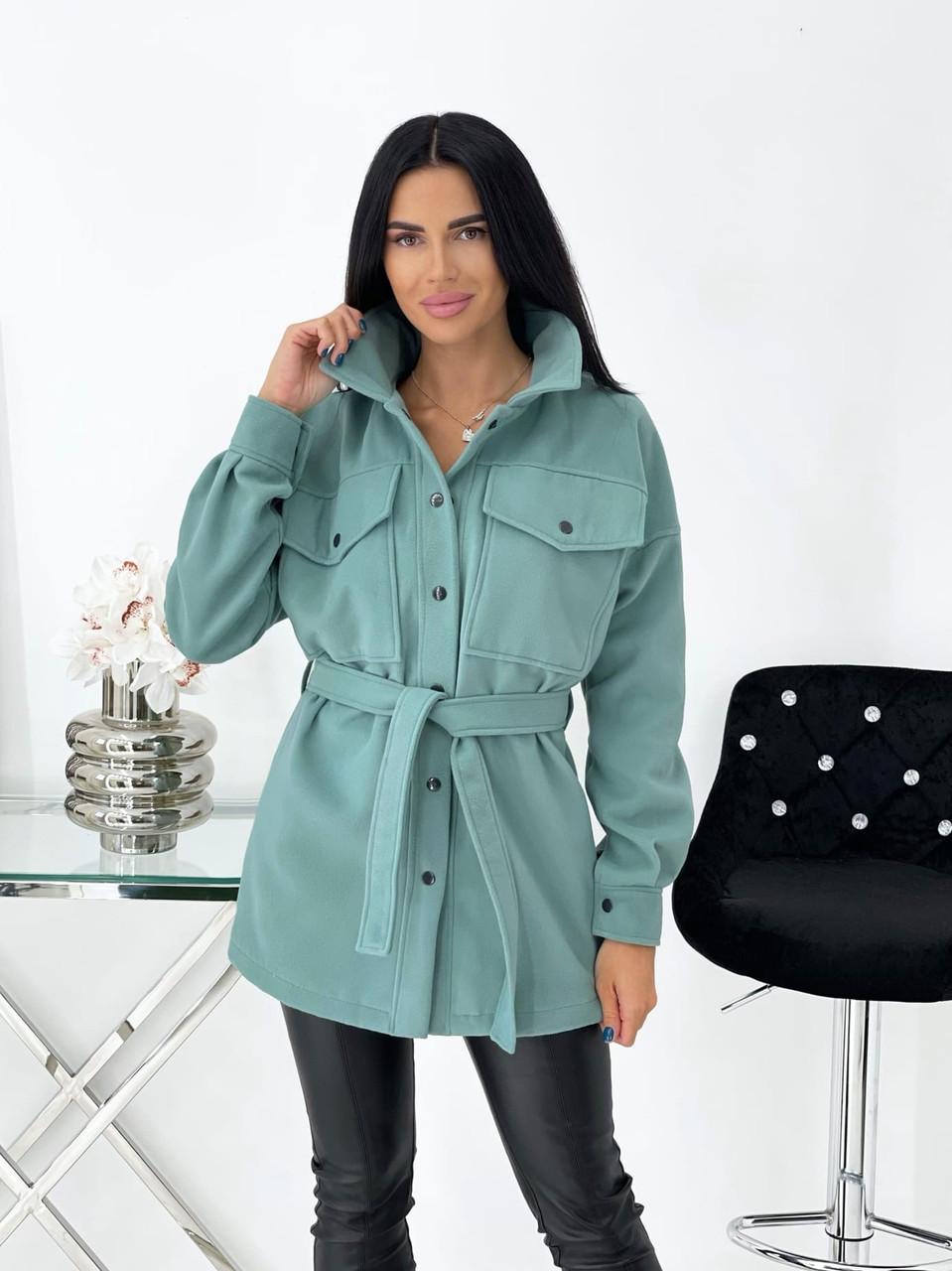 Тонкое кашемировое пальто с поясом