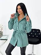 Тонкое кашемировое пальто с поясом, фото 2