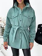 Тонкое кашемировое пальто с поясом, фото 3