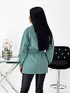 Тонкое кашемировое пальто с поясом, фото 5