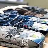 Хутряні чоловічі домашні шкарпетки з оленями нековзаючі, фото 2