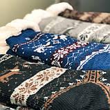 Хутряні чоловічі домашні шкарпетки з оленями нековзаючі, фото 5