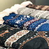 Меховые мужские домашние носки с оленями нескользящие, фото 5