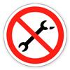 Заборонний знак «Забороняється користуватися несправним інструментом»