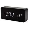 Годинники електронні VST-862S-6, термометр, будильник, вологість, календар, чорні