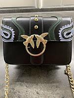 Женская сумочка в стиле Pinko на цепочке, фото 1