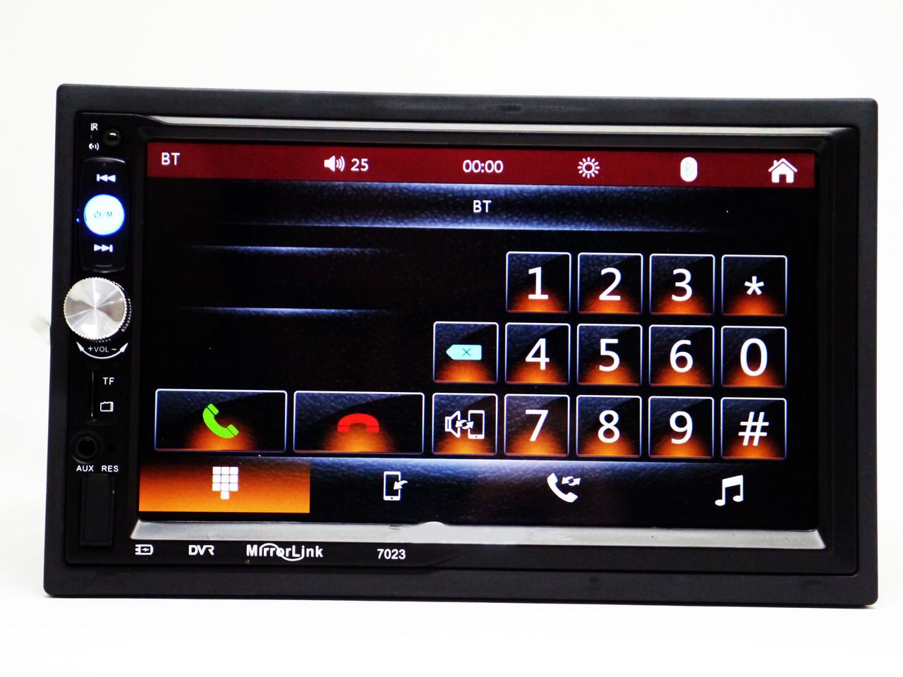2din Pioneer 7023 Автомагнітола USB+SD+Bluetooth (коротка)