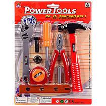 Дитячий ігровий Набір інструментів, молоток, плоскогубці, викрутка, рулетка, ключ.