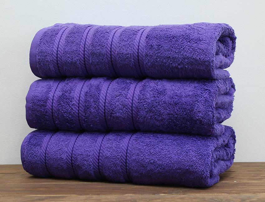 ТМ TAG Рушник 70х140 Soft Linen колір: фіолетовий