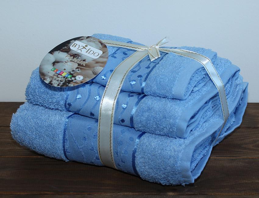 ТМ TAG Набор полотенец By_Ido №3 цвет: голубой
