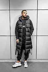 Мужской жилетка-парка осенняя стильная (черный) крутая куртка без рукавов АKA5013