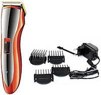 Професійна машинка триммер для стрижки волосся Gemei GM-6027 з насадками