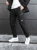 Штани чоловічі теплі карго чорні. Чоловічі штани утеплені чорного кольору., фото 1